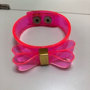 Neon hot pink bow bracelet bcb generation